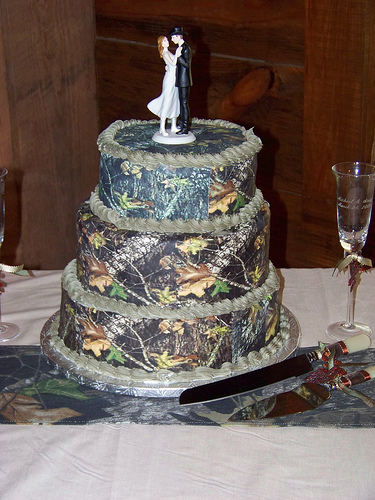 Camouflage Camo Wedding Cake