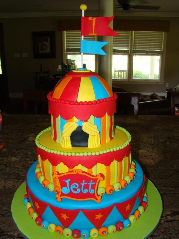 Carnival Circus Themed Cake