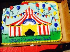 11 Photos of Carnival Themed 1 2 Sheet Cakes