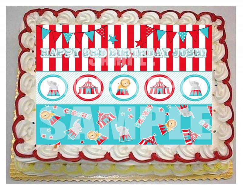 Circus Theme Sheet Cake