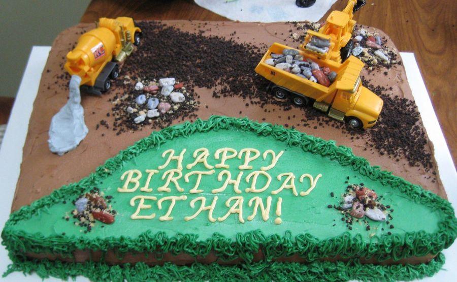 Construction Birthday Cake Scene