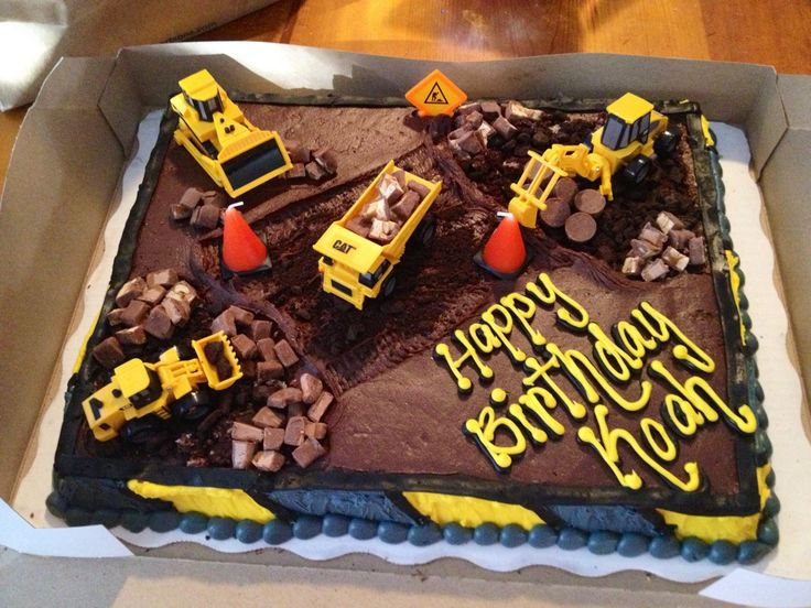 13 Photos of Construction Themed Sheet Cakes