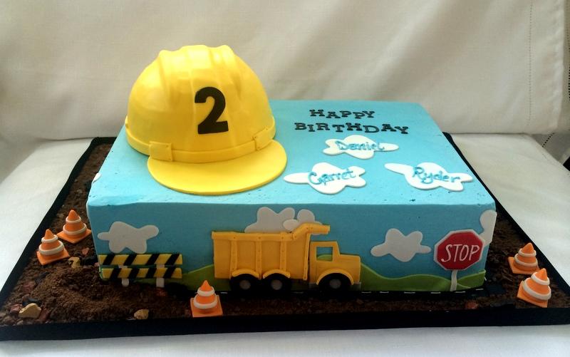 Construction Birthday Sheet Cake