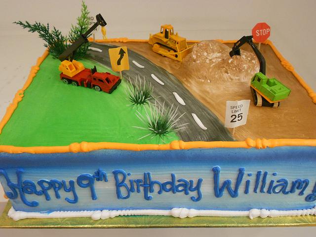 Construction Theme Sheet Cake