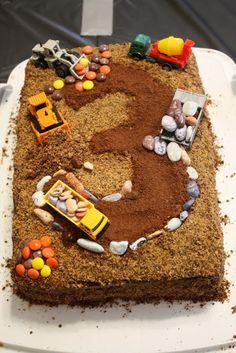 Construction Truck Birthday Cake Ideas