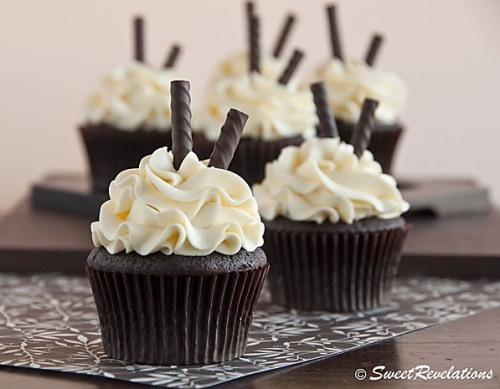 Dark Chocolate Peppermint Cupcakes