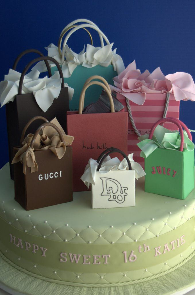 Designer Birthday Shopping Cake