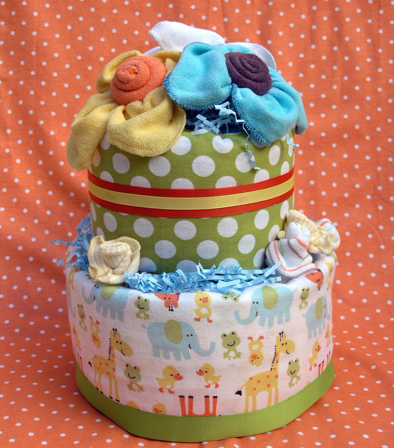 Diaper Cakes Baby Shower Decorations