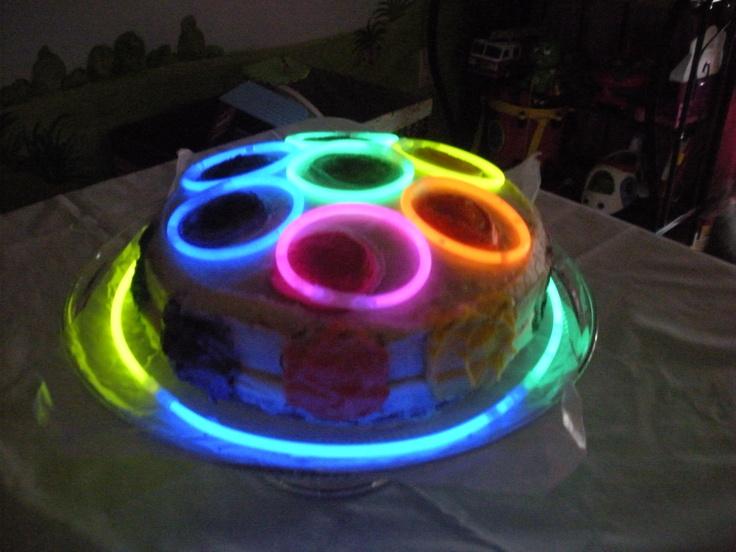 Disco Glow in the Dark Cake