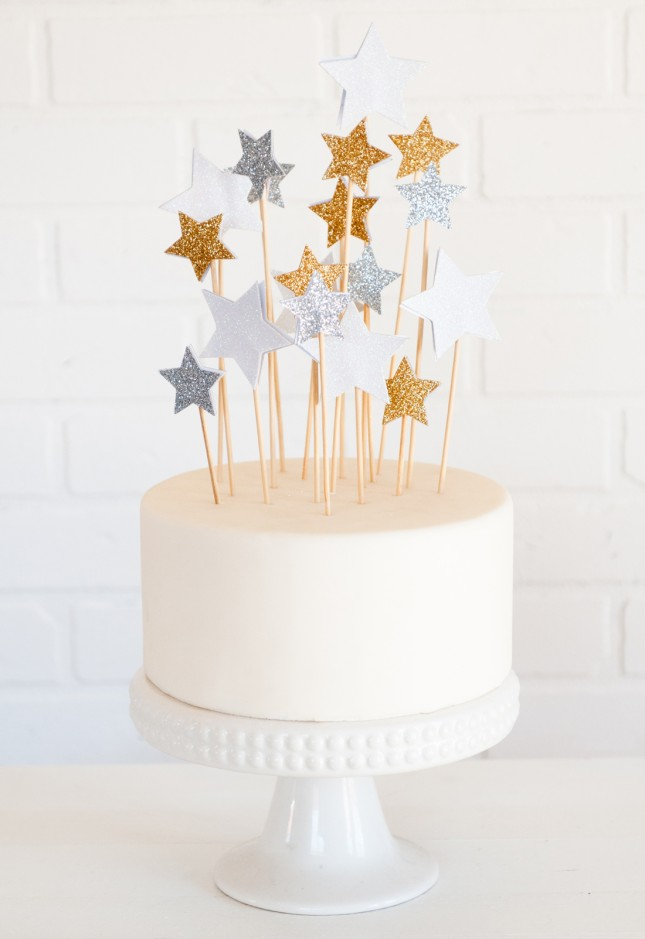 DIY Star Cake Toppers