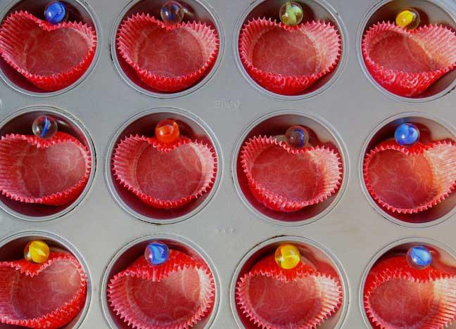 DIY Valentine's Cupcakes