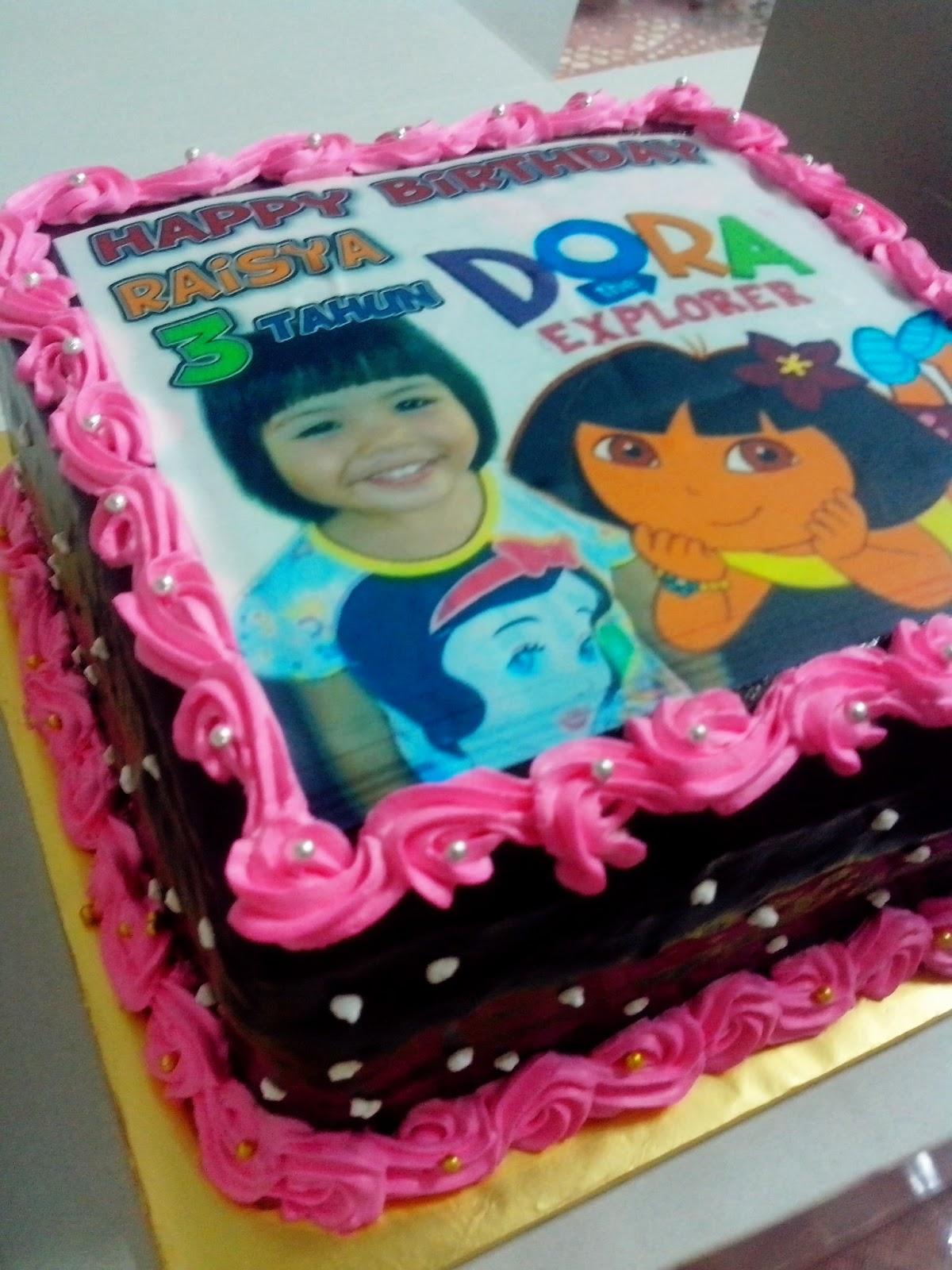 Dora the Explorer 3rd Birthday Cake