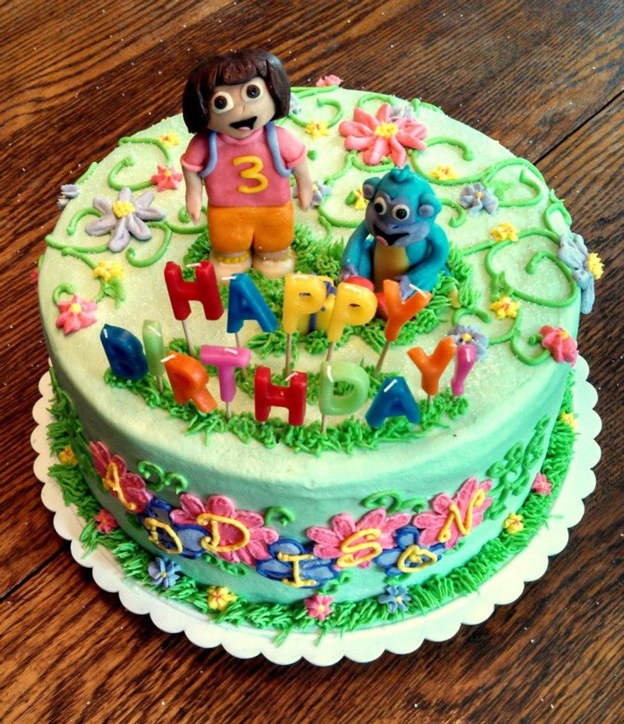 Dora the Explorer Happy Birthday Cakes