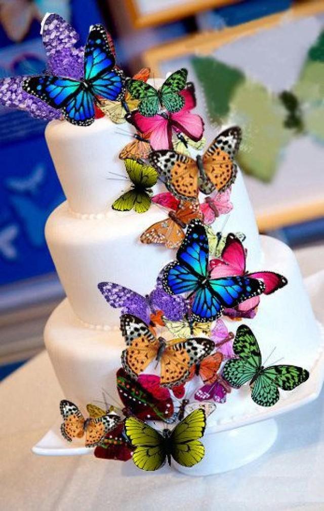Edible Butterflies Cake Decorations