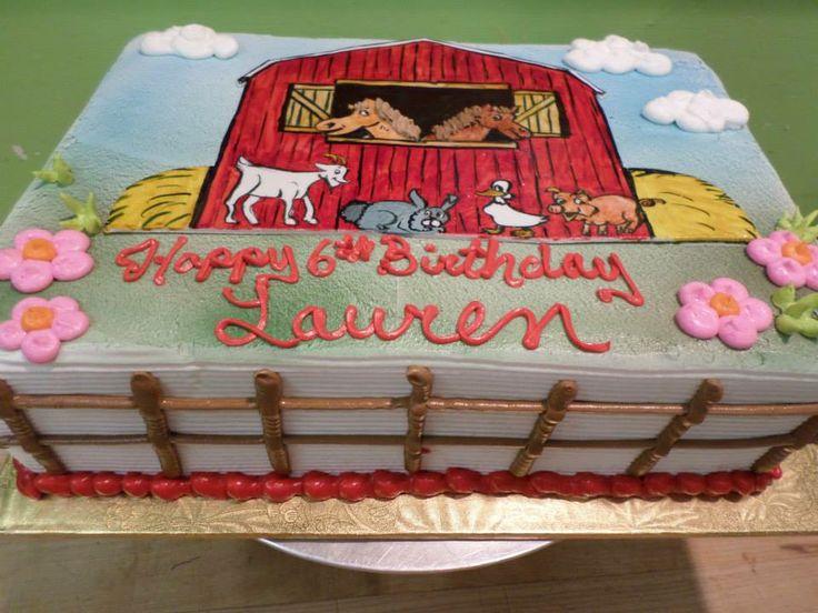 Farm Birthday Sheet Cake Ideas