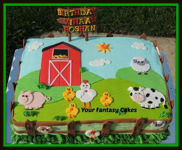 Farm Themed Birthday Sheet Cakes
