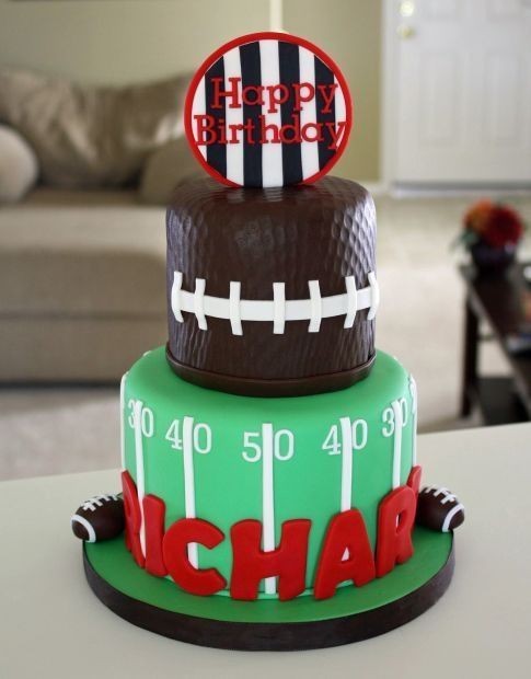 Football Happy Birthday Richard Cake