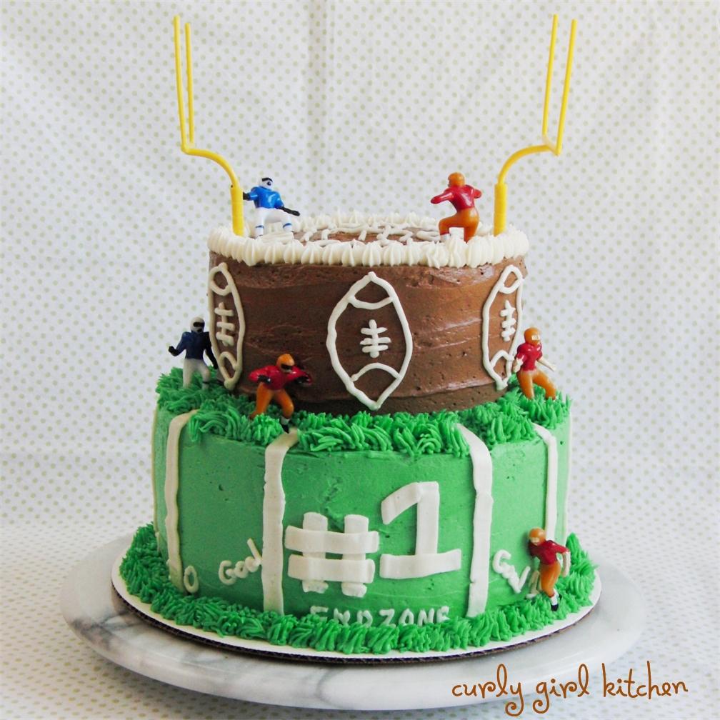 Football Three Layers Cakes
