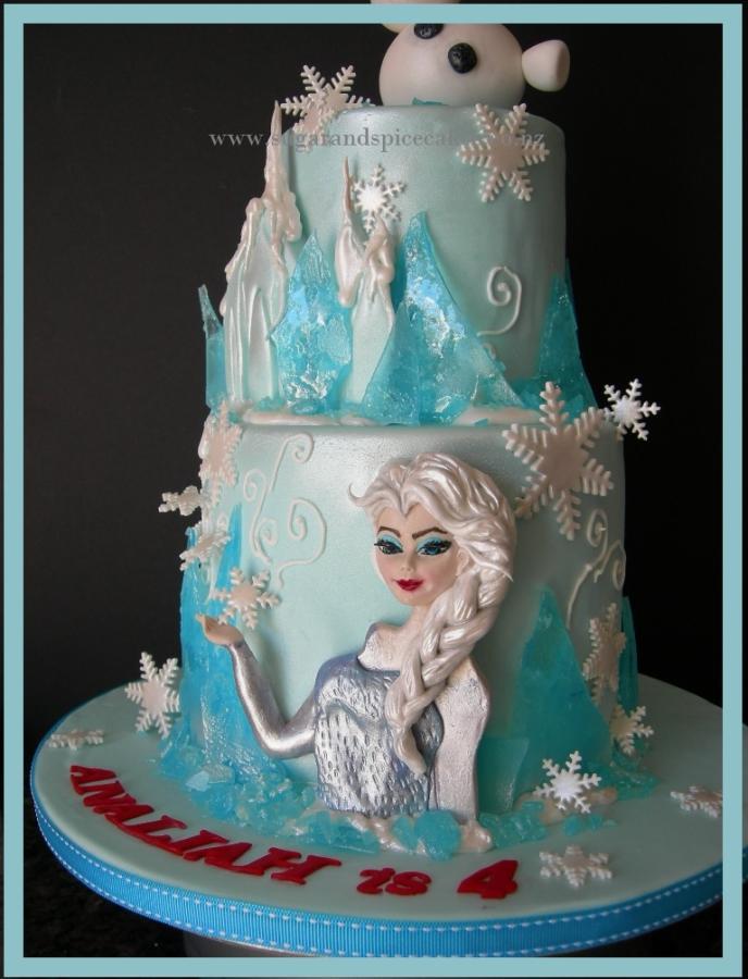Frozen Disney Ice Castle Cake