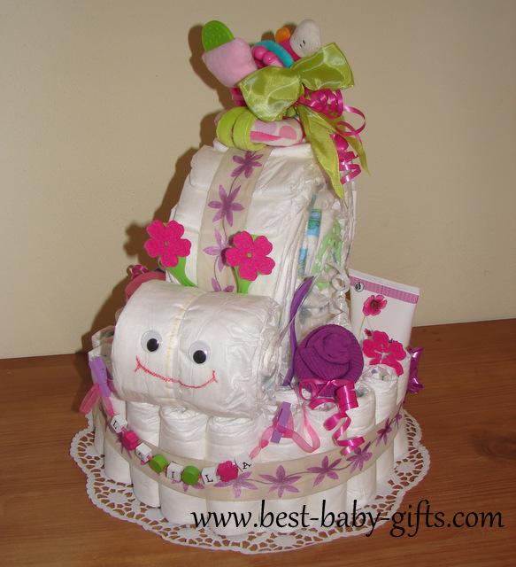 Girl Diaper Cake Ideas