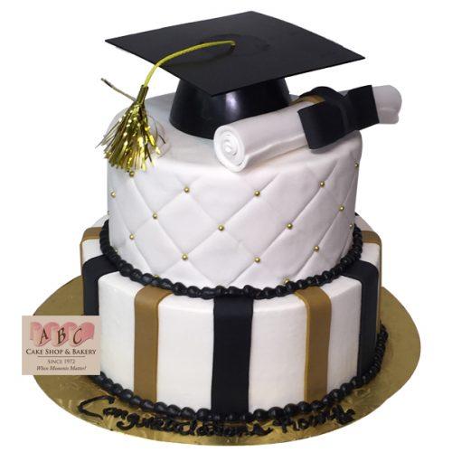 Gold Graduation Cake