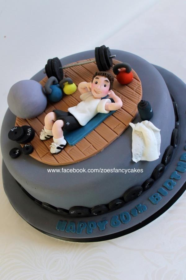 Gym Themed Happy Birthday Cake