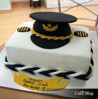 Happy Birthday Pilot Cake