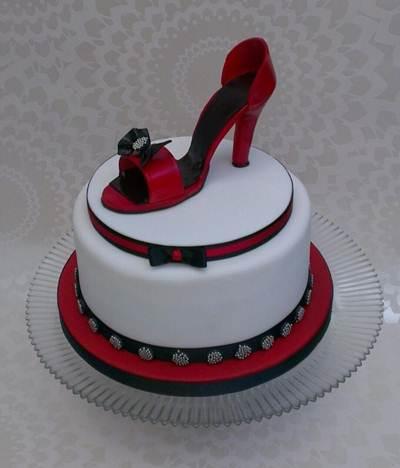 Happy Birthday Shoe Cake