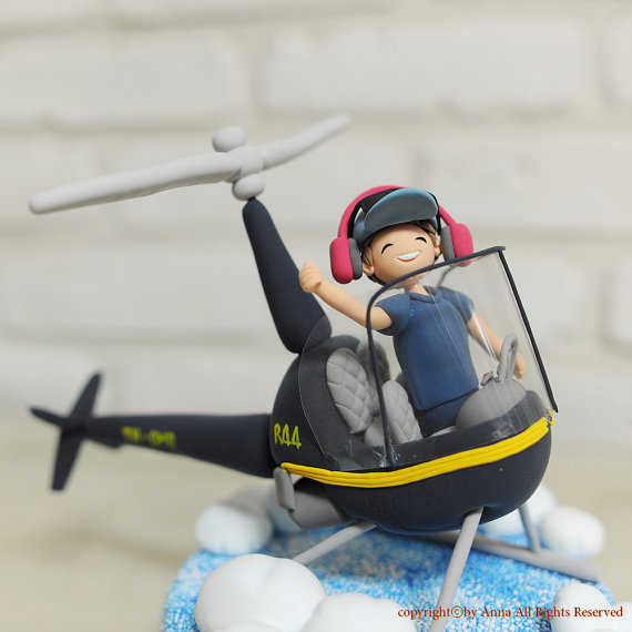Helicopter Pilot Birthday Cakes