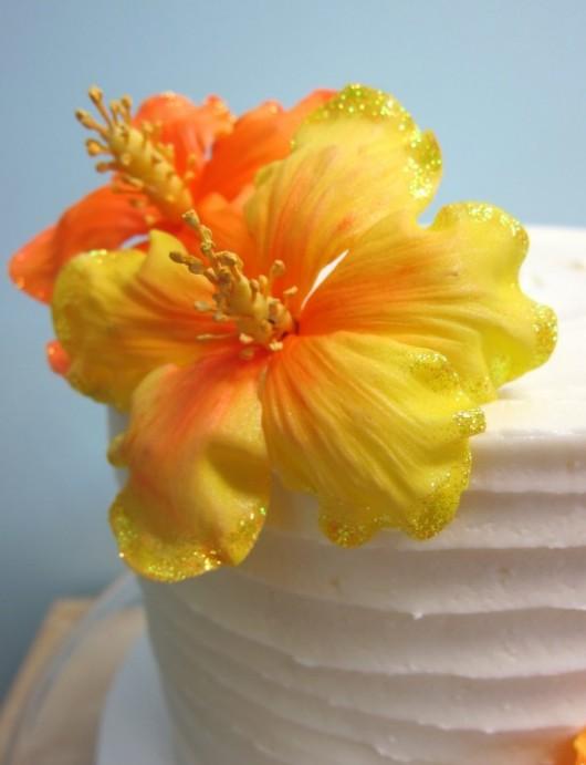 Hibiscus Gum Paste Flower Cake