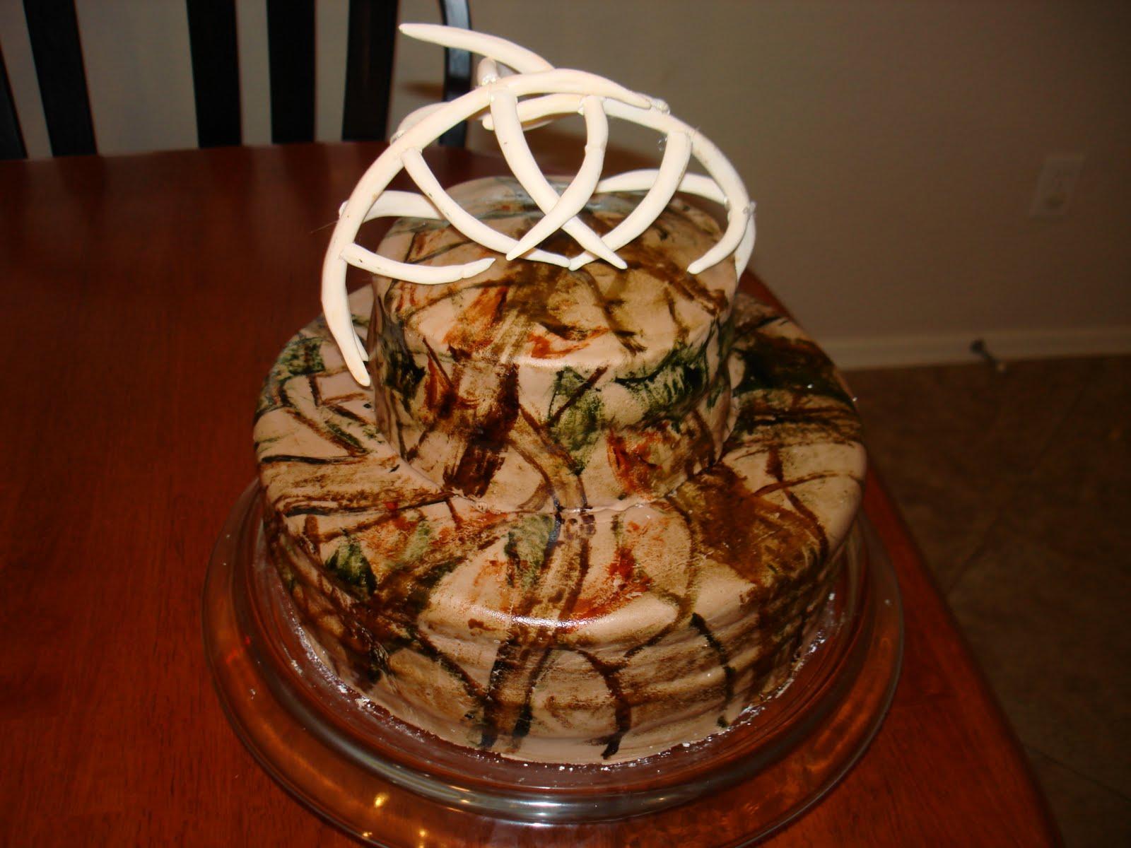 Hunting Camo Birthday Cake Ideas