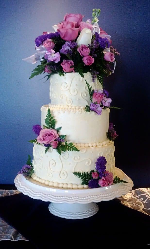 Italian Buttercream Wedding Cake