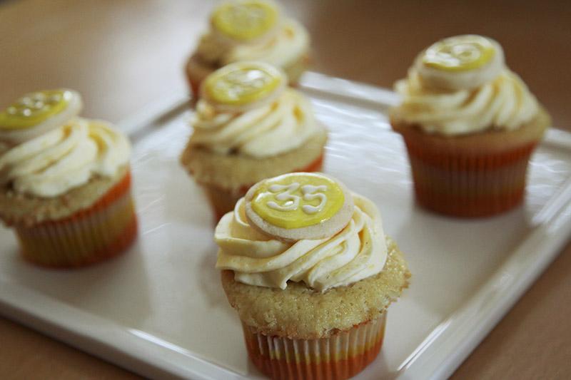 Italian Cream Cupcakes with Lemon Curd