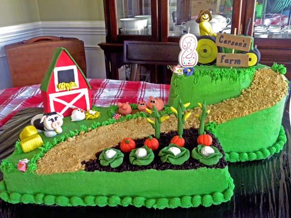 John Deere Farm Birthday Cake