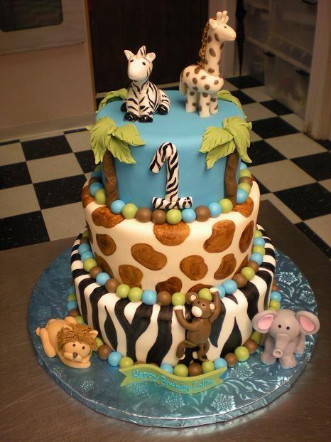 Jungle Theme Birthday Cake Idea