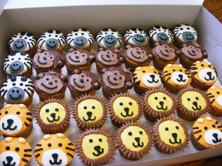 Jungle Theme Birthday Cupcakes