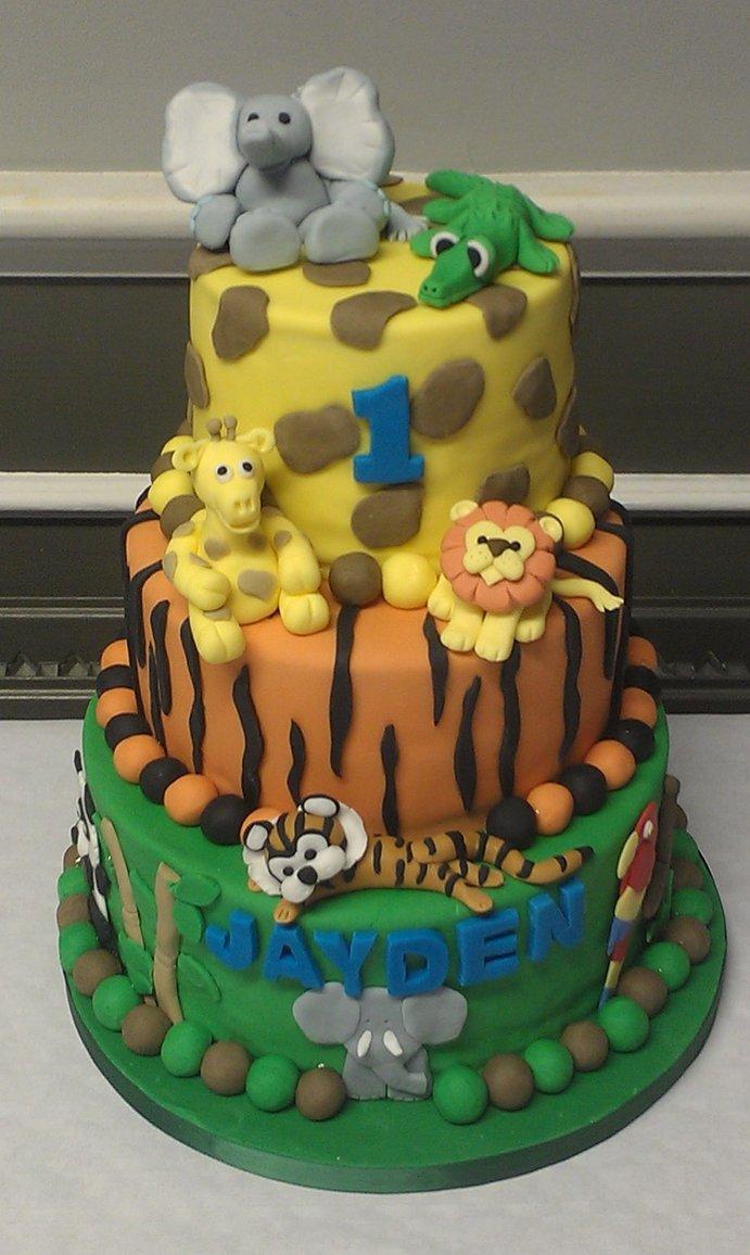 Jungle Theme Birthday Party Cake