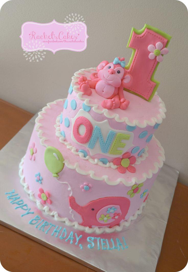 Jungle Theme Girl Birthday Cake Ideas