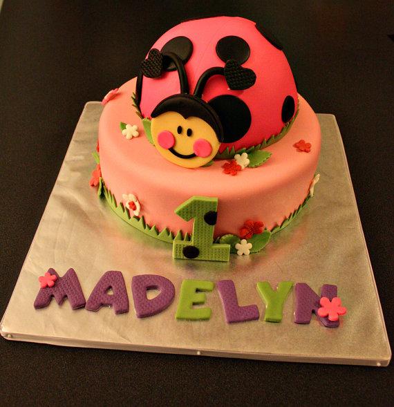 Ladybug Fondant Cake Topper