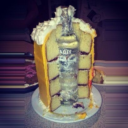 Liquor Bottle Birthday Cake