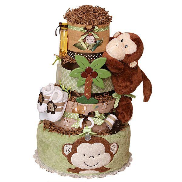 Monkey Baby Shower Diaper Cake