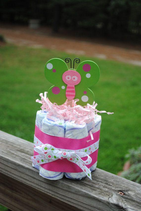 One Layer Diaper Cake Baby Shower