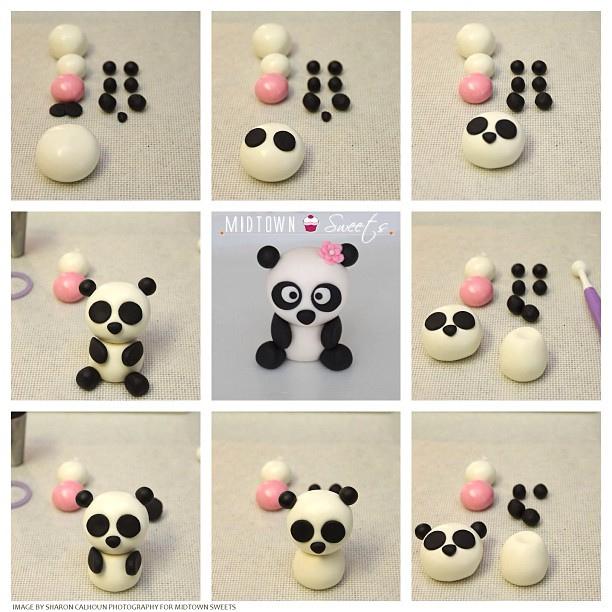 Panda Bear Fondant Cake
