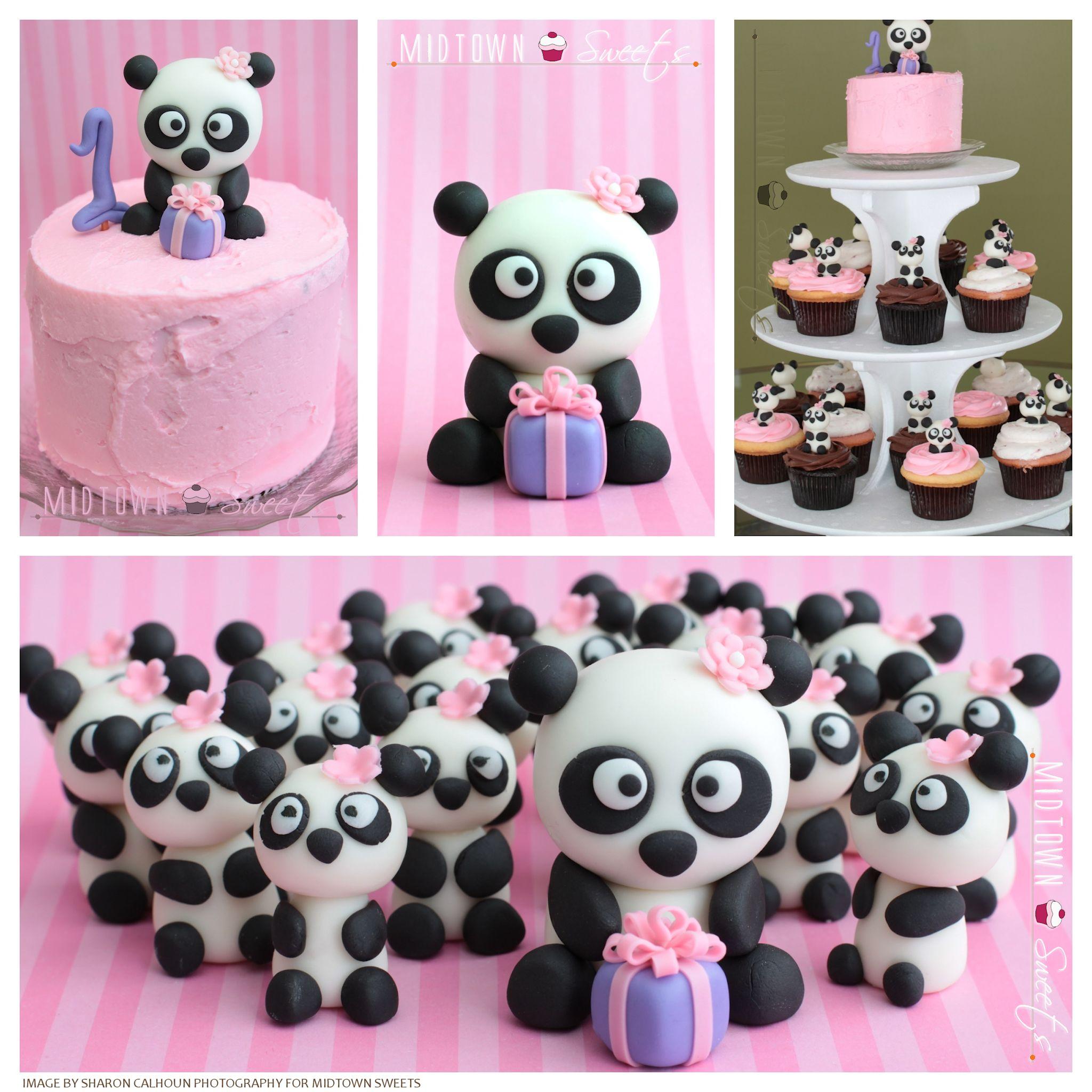 Panda Cupcake Birthday Cakes