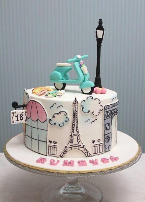 Paris Birthday Cake Ideas