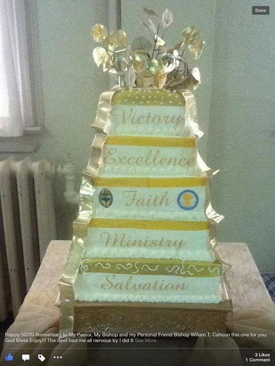 Pastor Anniversary Cake