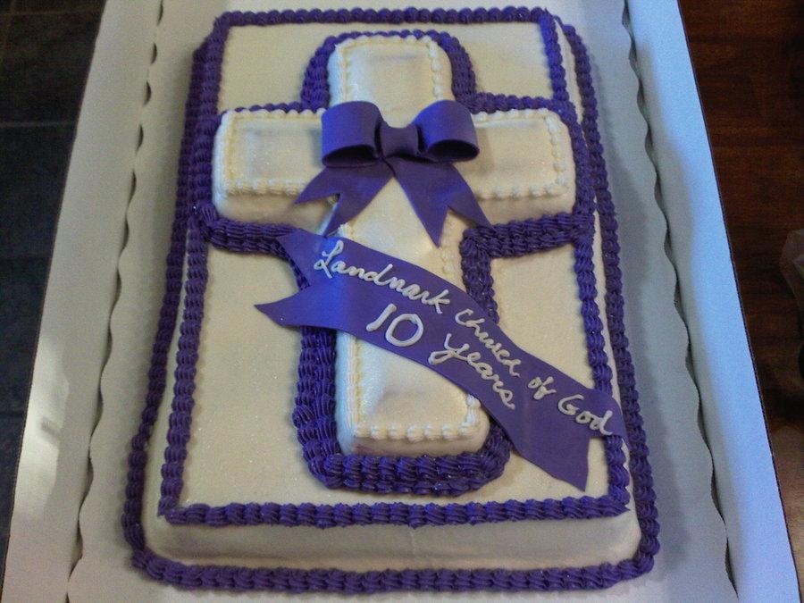 Pastor Church Anniversary Cake