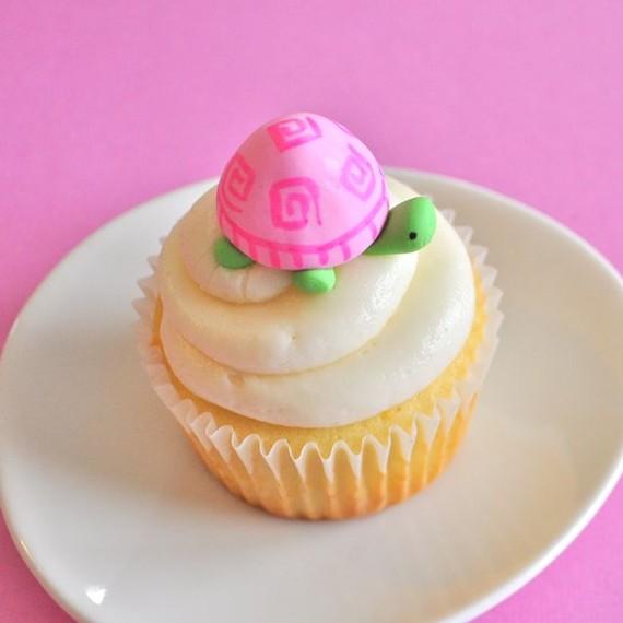 Pink Turtle Cupcakes
