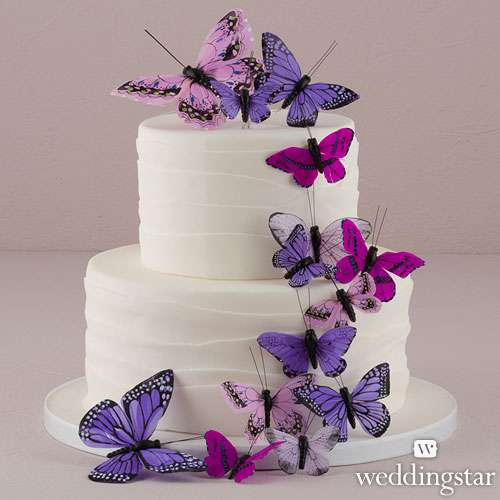Purple Butterfly Cake Decorations