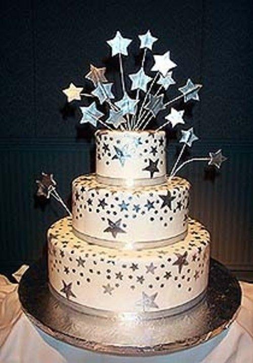 Purple & Silver Star Cake